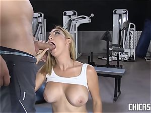 Chicas Loca - huge-titted Latina torn up at the gym
