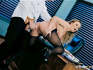 Alexis Adams juggling on top of Danny D