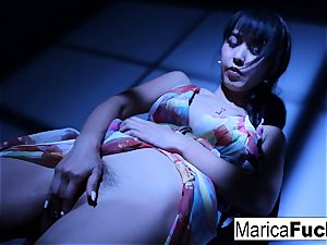 asian pornographic star Marica gets naked