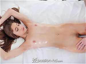 PASSION-HD dark-haired Rebel Lynn pounded after rubdown