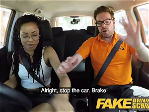 fake Driving college black american minx Kira Noir