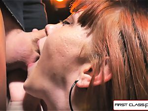 first-ever Class pov - Alexa Nova sucking a ample chisel in pov