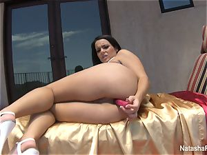 Natasha cute playthings her donk and takes a bathroom