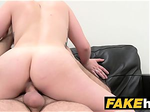 fake Agent Spanish honey with large funbags get good poking