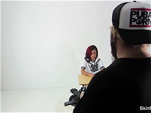 Behind the scenes with flesh Diamond and Alison Tyler