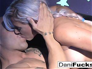Dani has a super-fucking-hot ebony light threesome