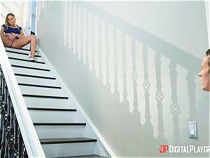 super-hot stairway honeypot beaten Britney Amber