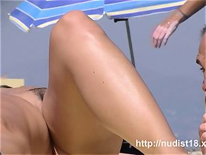 Sexually exhilarated barely legal age nudist