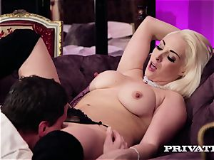 Private.com - big-titted Victoria Summers inhales and smashes