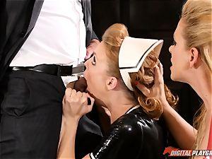vagina hitting the wild lovemaking marionette maid Britney Amber