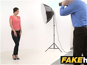 fake Agent Model Vicky enjoy takes Cumload on her orbs