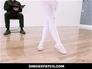 GingerPatch - sandy-haired Ballerina riding Judges hefty prick