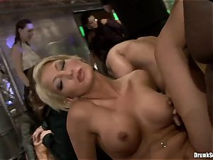 Bibi Fox with hottie buddies crammed with torrid jism