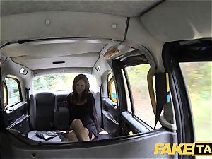 fake taxi Posh girls swollen vag and bum boned