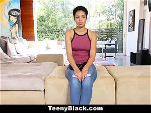TeenyBlack - torrid first-timer deepthroats manmeat