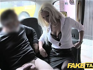 faux cab steamy estate agent gets creampied