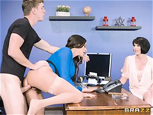 bum tearing up milf Ariella Ferrera in the office
