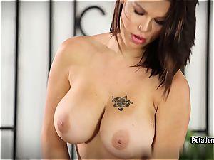 CrushGirls - Peta Jensen has some joy with her fake penis