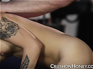 red-hot asian stunner honey Gold gets abused and enjoys it
