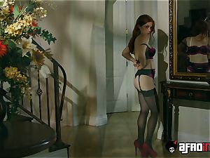 audition ALLA ITALIANA redhead pounded by a black prick