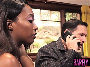dark-hued nubile Daya Knight eats married stud jism after sex