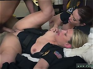 Cop gets oral job and mummy railing compilation hard-core The ebony Patrol nymphs in blue got a