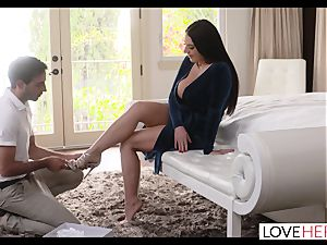 bodacious Angela Whites foot fuck-a-thon With lucky Delivery fellow
