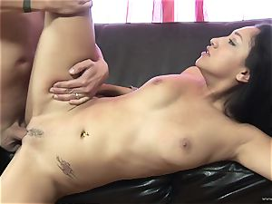 Scintillating Vicky pursue gets plastered with cum