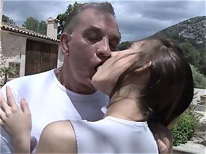 Tina tricks older fellow for lovemaking