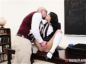 naughty student is worth to be penalized for her misbehavior