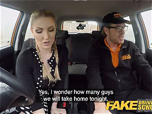 faux Driving college huge-titted light-haired Georgie Lyall