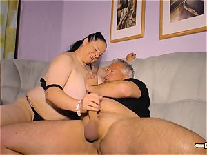 HausfrauFicken - Mature German plus-size in unexperienced pulverize demonstrate