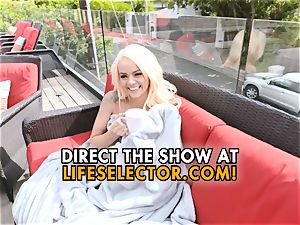 Elsa Jean - ultra-cute blond with taut twat enjoys to bang