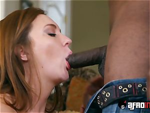 huge-chested Maddy Oreilly gets slammed rock hard by bbc clad wolf
