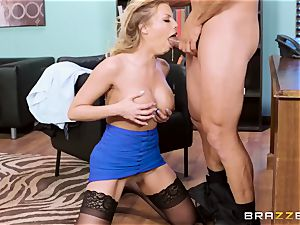 passionate whorey office super-bitch Britney Amber gets penalized by her stringent boss