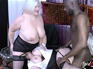 AgedLovE Lacey Starr bi-racial threesome