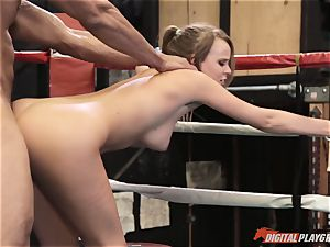 Alexis Adams labia wrinkled in the boxing ring by gigantic fuckpole