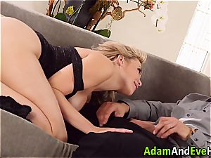 stunning couple Mia Malkova and Danny Mountain pounding