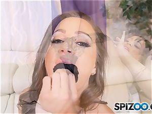 Solo masturbation with crazy Abigail Mac